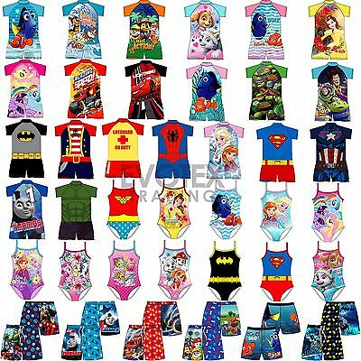 Kids Swimsuit Surf Suit Swimming Costume Childrens Swimwear Age 1-10 Years