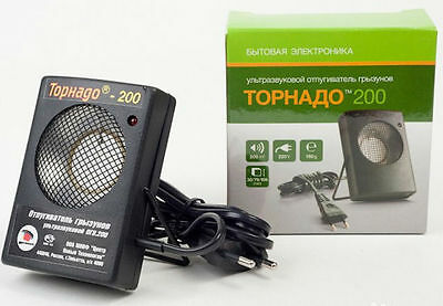 Ultrasonic Rodent Repeller Rats and Mice  Tornado 200 NEW