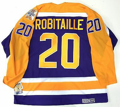 finest selection 183d7 37c06 LUC ROBITAILLE LOS Angeles Kings Ccm Vintage Purple 1987 Rookie Year Jersey  New