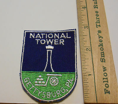 National Tower Gettysburg, PA Embroidered Souvenir Patch ~ Vintage