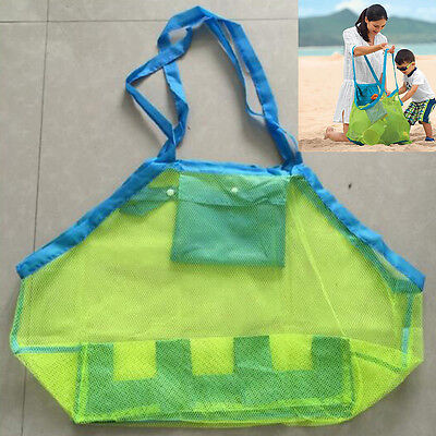 1PCS Kids Toy Collection  Mesh Bag Large Sand Away Beach Toys Clothes Mesh