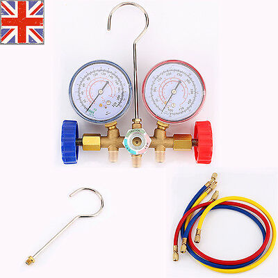 Air Conditioning A/C Refrigeration AC Diagnostic Manifold Gauge Cars Tool Set