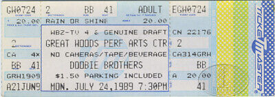 DOOBIE BROTHERS 1989 Unused Concert Ticket Great Woods