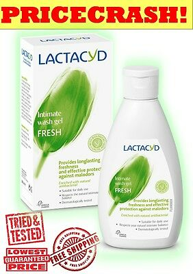 LACTACYD FRESH Daily Intimate Wash 200ml - BUY 4@£5.79 OR 8@£5.49