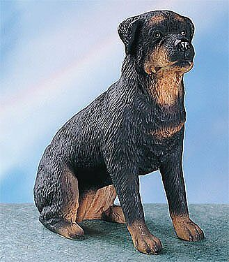 Rottweiler Dog - Collectible Statue Figurine Figure Puppy Sculpture