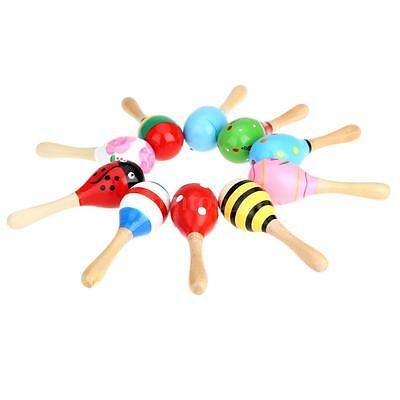 Wooden Maraca Gift for Children Games Percussion Musical Toy Idiophones X1Q9
