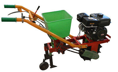 New Seeder Soil Spreader Gas Powered Planter Plant Care Crop Assembly Required