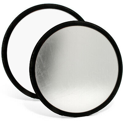 """30cm 12"""" 2-in-1 Collapsible Studio Light Reflector Round Disc Photography + Case"""