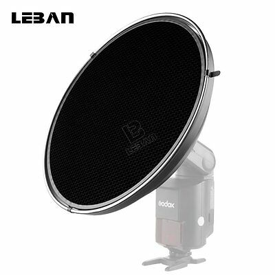 Godox AD-S3 Portable Beauty Dish + Honeycomb Cover For Speedlite Flash AD360180