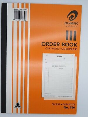 5 x Olympic #740 Order Book Duplicate 50P A4 297x210mm 140864