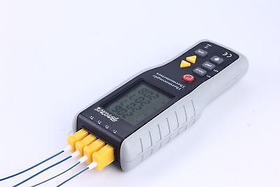 4-Channel K-Type Digital Thermometer Thermocouple Sensor -200~1372°C/2501°F AUS