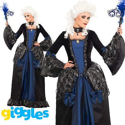 Baroque Beauty Masquerade Costume Womens Ladies Halloween Fancy Dress Outfit