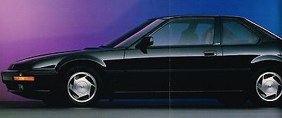 1989 Honda PRELUDE Brochure/Catalog with Specifications: S, Si