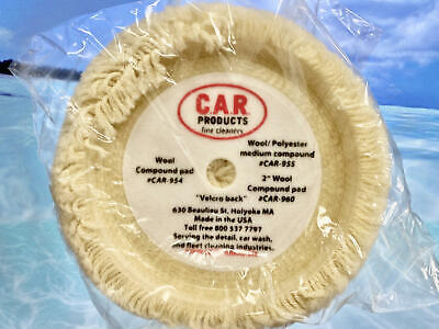 Wool Compound Pad, by C.A.R. Products, Buffing Pad Detailing Car WHITE