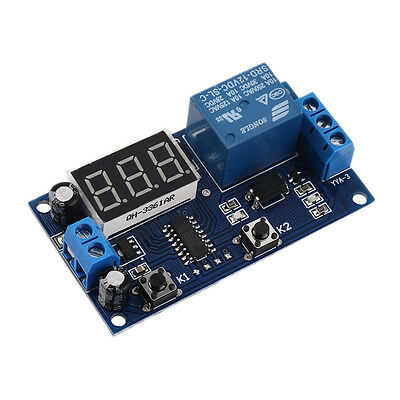 DC 12V Digital Display Trigger Cycle Time Delay Relay Module Board GT