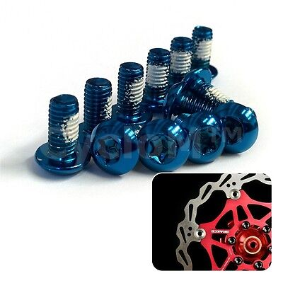 12 Pcs Cycling Bike Bicycle Disc Brake Rotor Screw Bolts M5 X10Mm Blue Red Green