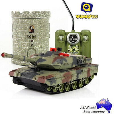 Leopard II German RC Tank Battles Tower HuanQi 550 Remote IR Radio Toy Kit