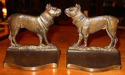 Antique Cast iron terriers dog bookends-Bradley & Hubbard----15233