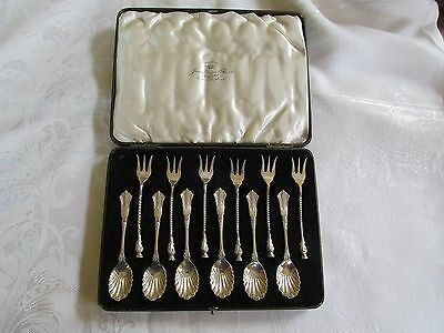 Antique Mixed Dixon Wingfield Sheffield Scottish Thistle Cocktail Forks Spoons