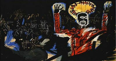 "Jean Michel Basquiat Oil Painting on Canvas ""Profit I"" 1982 Abstract HUGE 16x32"""