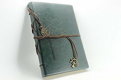 VALERY Classic Leather Writing Journal Lined Pages Diary Notebook