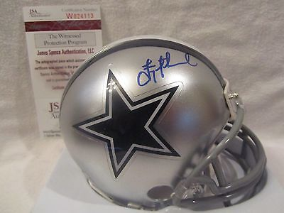 Troy Aikman Autographed Dallas Cowboys Mini Helmet - JSA Cert