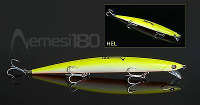 Artificiale Nemesi 180 Ss Colore Hel Spinning Lure Italy Pesca Long Jerk Señuelo
