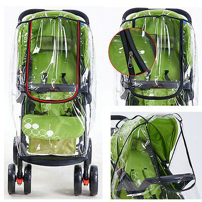 UK Rain Cover Raincover For Universal Buggy Pushchair Stroller Pram Baby Car
