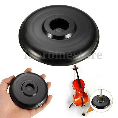 Cello Endpin Stop Stopper Holder Anchor All Floor Protector Non-slip Mat Black