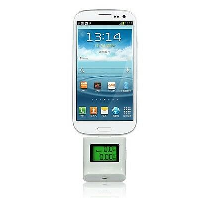 Samsung Galaxy S3 S4 Note Breathalyser Alcohol Tester White
