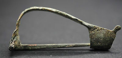 Ancient Roman Bronze Fibula Brooch 1St-3Rd Century Ad, British Found