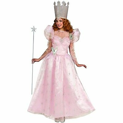 Glinda Costume Deluxe The Good Witch Wizard of Oz Glenda Dress - Fast Ship -