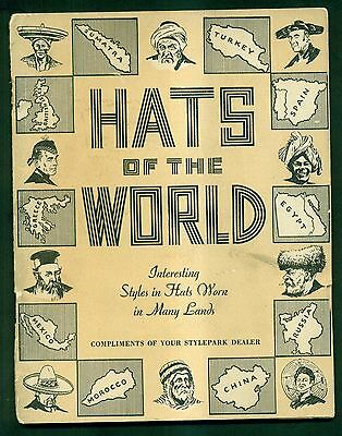 "1935 Stylepark Dealer ""Hats of the World"" Booklet - David Pressman,Inc. Phila."
