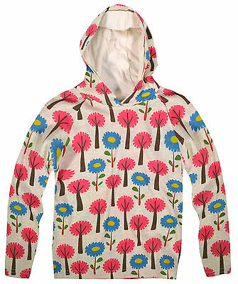 Girls Vibrant Floral Baby Hooded Top New Kids 100% Cotton Pullover 9mth - 4Yrs