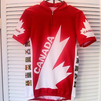 Rare Vintage Canada Cycling Jersey
