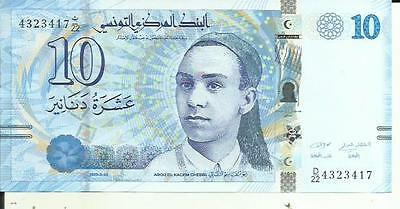 Tunisia 10 Dinars 2013  P 96. Unc Condition. 4Rw 21Abril