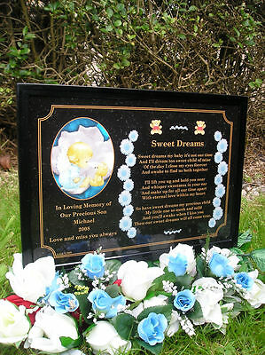 Personalised Occasions Baby Memorial Grave Plaque (Boy
