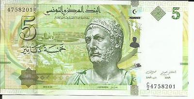Tunisia 5 Dinars 2013  P 95. Unc Condition. 4Rw 21Abril