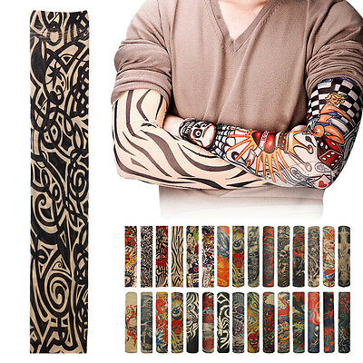 New Outdoor Fishing Cycling Sports Tattoo UV Protection Rock Arm Sleeves