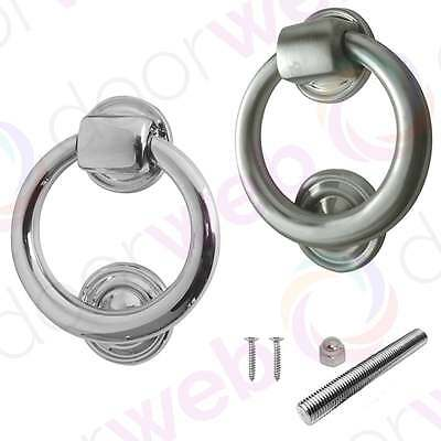 Jedo RING DOOR KNOCKER Chrome Contemporary Smooth Front Door Heavyweight Large