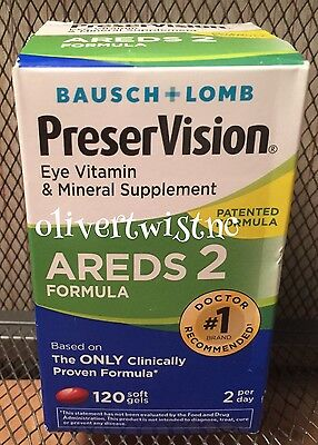 NEW Bausch & Lomb Preservision AREDS 2 Eye Vitamin 120 Softgels EXPIRES MAR 2018