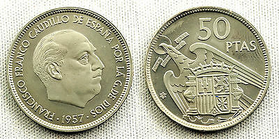 Estado Español 50 Pesetas 1957*74 Madrid Proof/unc/s/c Escasa