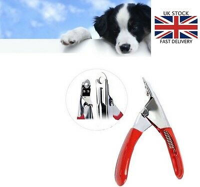 Stainless Steel Dog Cat Pet Nail Toe Claw Clippers Trimmers Scissors Cutter RED