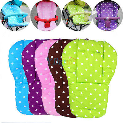Baby Kids Infant Trolley Stroller Pram Pushchair Seat Dot Liner Pad Cushion Mat