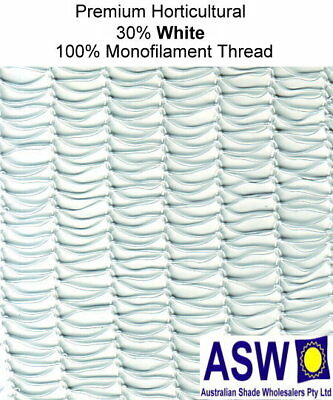 30% UV 4m Wide WHITE SHADECLOTH Premium Horticultural Commercial Shade Cloth