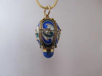 Vintage Chinese Export Enamel 900 Silver Pendant Necklace
