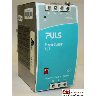 PULS SL5.100 POWER SUPPLY 120/208/240VAC , 5A - Used