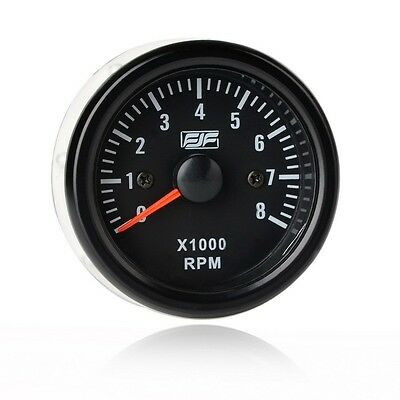 "New 2"" 52mm Black Tinted 0-8(x1000) RPM Car Smoke Tacho Gauges Meters Universal"