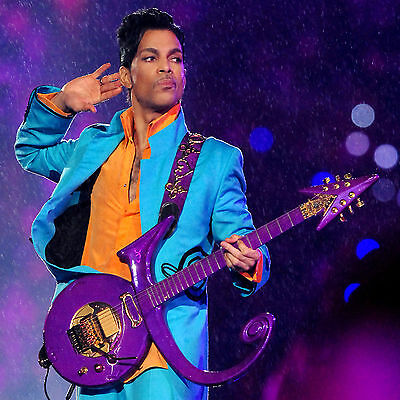 Prince Purple Rain Guitar Blue Suit Music WALL ART CANVAS FRAMED OR POSTER PRINT