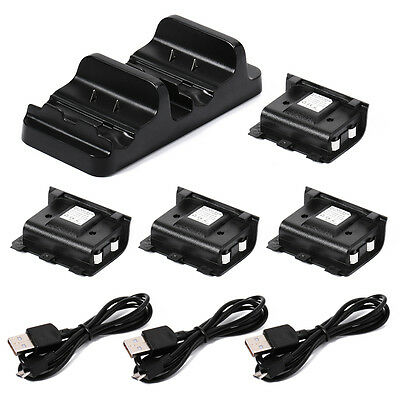 Xbox One Dual Charge Dock Kontroller Ladegerät + 2 Rechargeable Batterie BC544